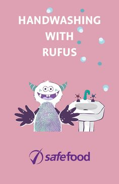 Handwashing with Rufus the messy monster Coloring Sheets, Hand Coloring, Monster Hands, Fun Songs, Poster On, Hand Washing, Kids Learning, Classroom, Rainbow
