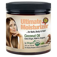 Iorgani Raw Virgin Organic Coconut Oil for Body, Skin, Scalp and Hair Growth *** More details can be found by clicking on the image. #HairSkinNailsNutrition