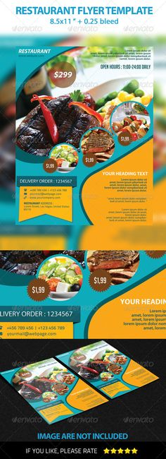 Restaurant Flyer Template  #GraphicRiver         Restaurant, Product Flyer, Business, Apartment, Fitness.  	  PSD FEATURE    300 DPI CMYK   8.5 × 11 with .25 bleed  Editable text layers  Layer Organized  With guidelines  Playing with Fonts  Easy to change color   	 Fonts used   - Myriad Pro (Adobe Creative Suite) -  .fontsquirrel /fonts/TitilliumText -  .dafont /bignoodle-titling.font   	  IMAGES FOOD ARE NOT INCLUDED   	 If you like it, please don't forget to rate this item, Thanks…