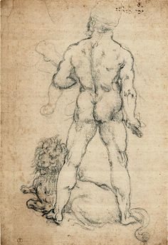 Hercules with a lion - Leonardo da Vinci