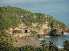 Parador Vistamar: Vista hacia el Este, el Tunel de Guajataca