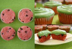 #watermelon #cupcakes sorry @Tanya Cycyota I'm bored, so you get cupcake decorating ideas :-D