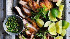 Chicken with salt, pepper, lime and bird's eye chilli recipe