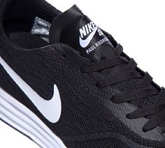 Nike Paul Rodriguez 9 R/R Trainers in Black and White. Ease the transition  between exhausting board sessions and chilling with this latest instalment  of ...
