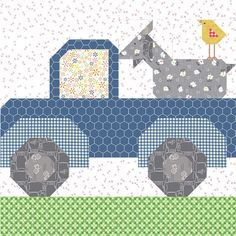 Bee In My Bonnet: Farm Girl Vintage 2 Quilt Along – Week Nine! Farm Animal Quilt, Farm Quilt, Girls Quilts, Baby Quilts, Barn Quilt Patterns, Quilting Patterns, Patchwork Quilting, Scrappy Quilts, Farm Girl Style
