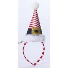Mini Striped Santa Hat Headband 69024