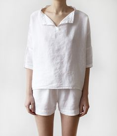 Aimee tell daddy I want these in medium! Luxury Linen Pajamas with shorts  by LinenTalesInBed on Etsy f8a5468de