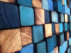 Wood Sculpture Headbord Queen Headbord Wall Art by WallWooden