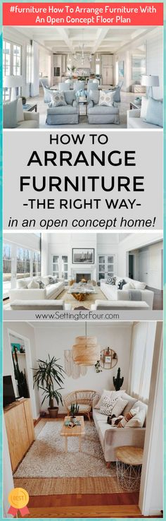 #furniture How To Arrange Furniture With An Open Concept Floor Plan ##furniture …#arrange #concept #floor #furniture #open #plan Arranging Bedroom Furniture, Arrange Furniture, Contemporary Living Room Furniture, Rustic Living Room Furniture, Bedroom Furniture Design, Interior Design Living Room, Living Room Designs, Fireplace Furniture Arrangement, Small Living Room Layout