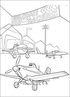 Desenhos para pintar Aviões 18