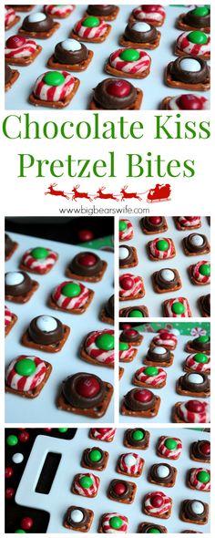 Big Bear's Wife: Chocolate Kiss Pretzel Bites