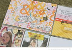 Studio Calico Tips & Tricks feature - stitching on #projectlife spreads with Corrie Jones #SCantiquary