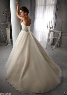 New White/Ivory Wedding Dress Bridal Gown USA Size 2 4 6 8 10 12 14 16