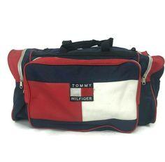 Vintage Tommy Hilfiger Flag Fabric Duffle Gym Bag Carry On Luggage Carry On Tote, Carry On Luggage, Tommy Hilfiger Luggage, Duffle Bag Travel, Crossbody Messenger Bag, Purses And Handbags, Fashion Bags, Leather Men, Gym Bag