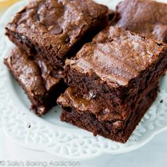 One Bowl Homemade Chocolate Chunk and Toffee Chip Brownies | Toffee ...