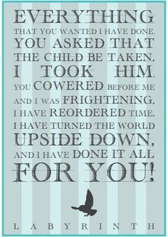 Awesome Movie quotes: Labyrinth Jareth Movie Quote Art Print by Farquharson | Society6 Quotes Check more at http://kinoman.top/pin/16506/