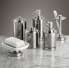 Asbury Accessories The post Asbury Bath Accessories appeared first on Best Pins for Yours - Bathroom Decoration Bathroom Accessories Sets, Home Decor Accessories, Owl Bathroom Decor, Bathroom Furniture, Bathroom Ideas, Wall Decor Amazon, Contemporary Bathrooms, Amazing Bathrooms, Restoration Hardware