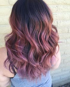 rose gold hair.