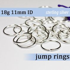 18g 40mm id 61mm od sterling silver 925 jump rings 18g400 open 18g 40mm id 61mm od sterling silver 925 jump rings 18g400 open jumprings pinterest metal solid gauges and chain mail keyboard keysfo Images