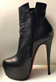OneStepForth serves a unique high heel shoe taste. We cater to the high heel aficionado's needs with a spectrum of colors. Do visit regularly as we often have new heels. Black High Boots, High Heel Boots, Heeled Boots, Hot High Heels, Sexy Boots, Fashion Boots, Leather Boots, Stiletto Heels, Luxury Shoes