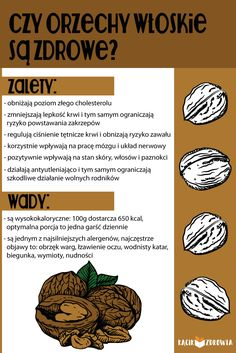 Czy orzechy włoskie są zdrowe? Home Recipes, New Recipes, Food Hacks, Healthy Lifestyle, Herbs, Wellness, Fruit, Vegetables, Cooking