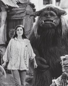 1986 - Jennifer Connelly as Sarah and Ludo in Labyrinth.