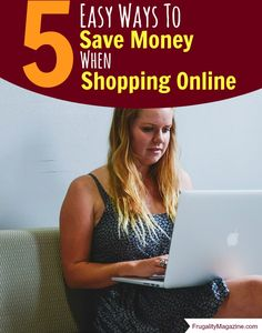 How to save money when shopping online. We all know that internet shopping can help us save money, but these tricks and tools will help you to save even more. #frugal #thrifty
