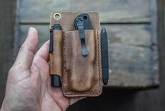 Your place to buy and sell all things handmade Leather Pouch, Tan Leather, Edc Belt, Bullet Pen, Space Pen, Apple Airpods 2, Pocket Organizer, Everyday Carry, Classic Leather