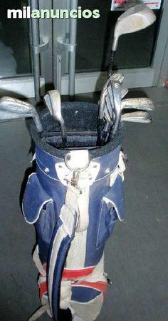 . Material deportivo GOLF Juego de palos de golf - bolsa color bandera inglesa!  Juego de palos de golf con bolsa de transporte 11 palos Mizuno wilson goldem ram bolsa color bandera inglesa!
