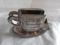 godinger napkin holder Tea for Two by tjmccarty on Etsy, $16.50
