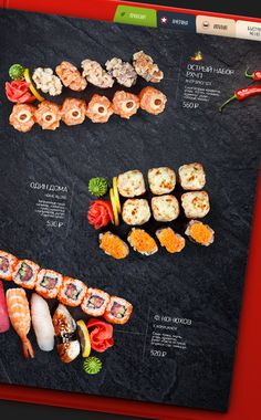 MAIN MENU | «Two Sticks» restaurant by Feel Factory, via Behance