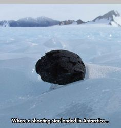 Cool Shooting Star in Antarctica
