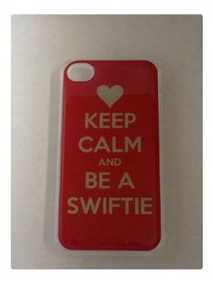 Keep Calm and be a Swiftie red Taylor Swift fans iPhone 4 4S Clear Plastic Case by yourphonecase101, http://www.amazon.com/dp/B00A4NGTE4/ref=cm_sw_r_pi_dp_c4ARqb1E9AB06