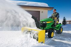 New snow blowers for JohnDeere lawn tractors http://egardeningtools.com/product-category/snow-removal/