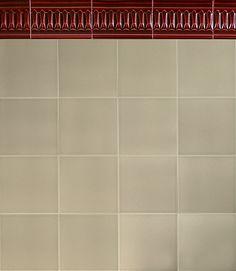 GOLEM Kunst und Baukeramik GmbH | Verlegebeispiel F 10.65 | Golem – In Handarbeit gefertigt. #Shower #Kitchen #Bathroom #Architecture #ArtNouveau #ArtDeco #Design #Tiles #Interior #ceramics #OldTiles #AlteFliesen #NeuesdurchTradition #GOLEMtiles #Architecturalceramics  http://www.golem-baukeramik.de https://www.facebook.com/GOLEMceramics/ https://www.instagram.com/golembaukeramik/
