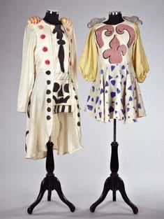 Original dresses for Pulcinella, designed by Giorgio de Chirico, Ballet Russes de Monte Carlo, 1931