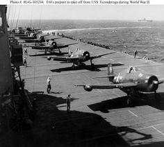 Hellcat F6F fighter planes on the Ticonderoga CV-14   - Sara N.