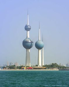 Kuwait Towers, Kuwait City, Kuwait.  Kuwait City is an open and positive place with nice restaurants, markets, and malls.