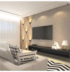 Wall Ideas Living Room 80 Amazing Living Room Tv Wall Decor Ideas and Remodel Luxury Living Room, Room Design, Living Room Theaters, Living Room Decor, House Interior, Living Room Design Modern, Living Room Tv Unit Designs, Living Decor, Living Room Tv Wall