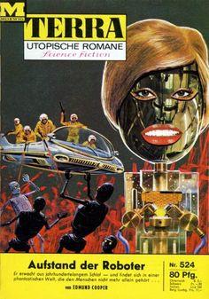 Terra SF 524 Aufstand der Roboter   THE UNCERTAIN MIDNIGHT Edmund Cooper  Titelbild 1. Auflage:  Karl Stephan