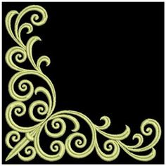 Sweet Heirloom Embroidery Design: Decorative Satin Corners 3.82 inches H x 3.82 inches W
