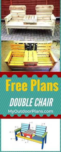 Step by step outdoor furniture plans - Learn how to build outdoor furniture with my detailed instructions! From patio chairs to outdoor benches I have lots of free plans so you can make the best choice! www.myoutdoorplans.com #diy #outdoorfurniture #backy