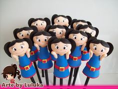 """Arte by Luluka: Ponteiras de lápis em biscuit no tema """" O Show da Luna """""""