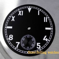 12.90$  Buy now - 38.9mm watch case fit ETA 6498 or movement Parnis watch Black Dial  #buymethat
