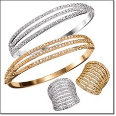 AVON'S DANCING SHIMMER COLLECTION Embellished with rhinestones. Cuff Bracelet Silvertone, Goldtone Price: $19.99 special $12.99 each Ring Sivertone, Goldtone Sizes: 6-10 Price: $19.99 special $9.99 each. Order here: www.youravon.com/mhamilton39
