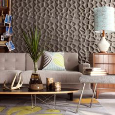 Wall Flats are Inhabit's take on a modern, eco-friendly wallpaper. A modern embossed three-dimensional wallcovering that is good for the environment. Does it get any better than that?
