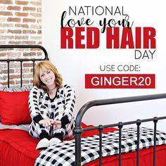 This is a day for all you red heads to bask in all your ginger glory! Tag your favorite redhead and let her know why you love her. Red Hair Day, Red Day, Beddys Bedding, Zipper Bedding, Red Bedding, Red Heads, Make Your Bed, Kid Spaces, Day Use