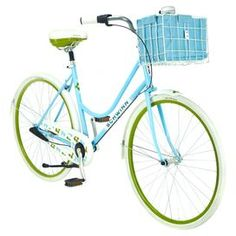 Bikes With Baskets For Women Women s blue three speed road