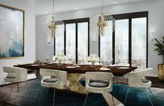 Let's take a look at some ideas on how you can use dining chairs with brass legs in your dining room decor this year!   www.barstoolsfurniture.com