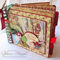 Crafty Secrets Heartwarming Vintage Ideas and Tips: Cyber Sale, Dec Linky Party and DT Challenge Christmas Mini Albums, Christmas Journal, Christmas Scrapbook, Christmas Minis, Christmas Crafts, Xmas, Prim Christmas, Christmas Books, Father Christmas